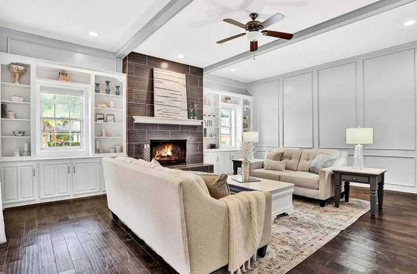 Paint Colors That Go With Dark Wood, What Color Furniture With Dark Wood Floors