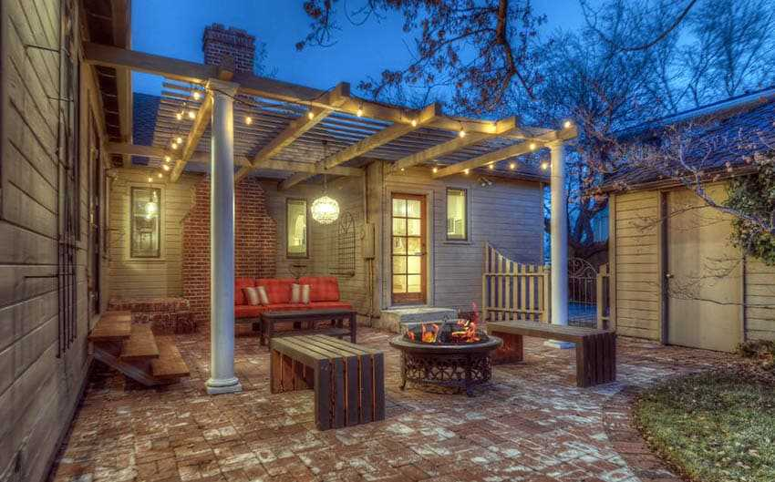 ᐉ Pergola With Fire Pit Backyard Designs Unique Ideas Decor And Designs