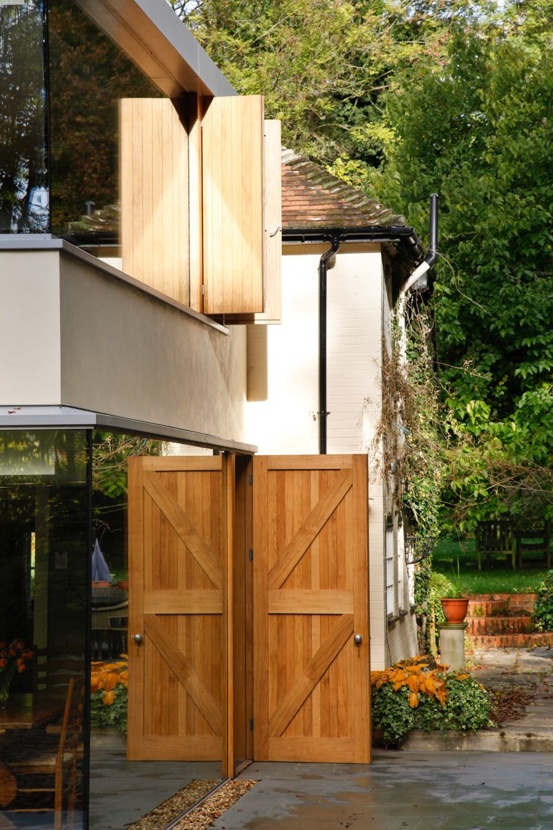 A Cantilevered Glazed Extension by Stephen Marshall Architects - Old Doors
