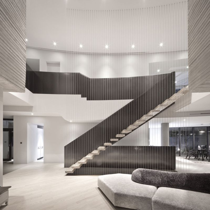 AAWH Residence lounge area stairs