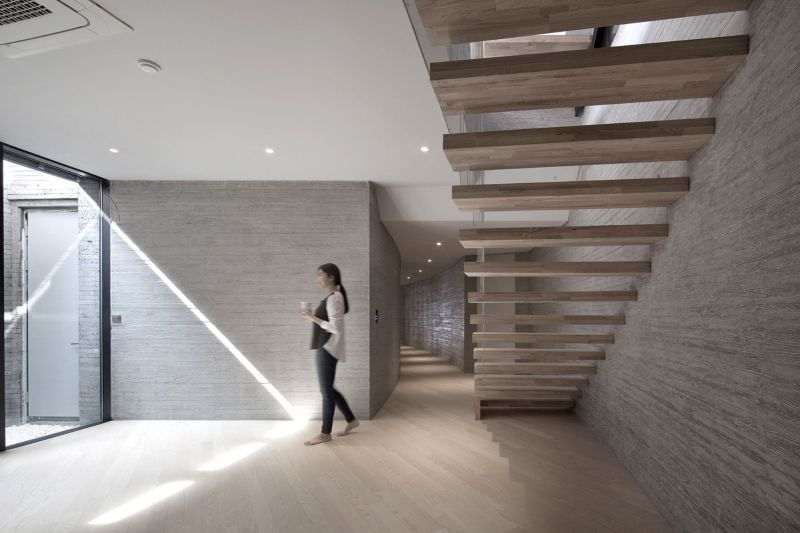 AAWH Residence wood stairs