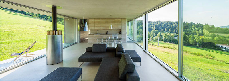 Ark house holiday home living space