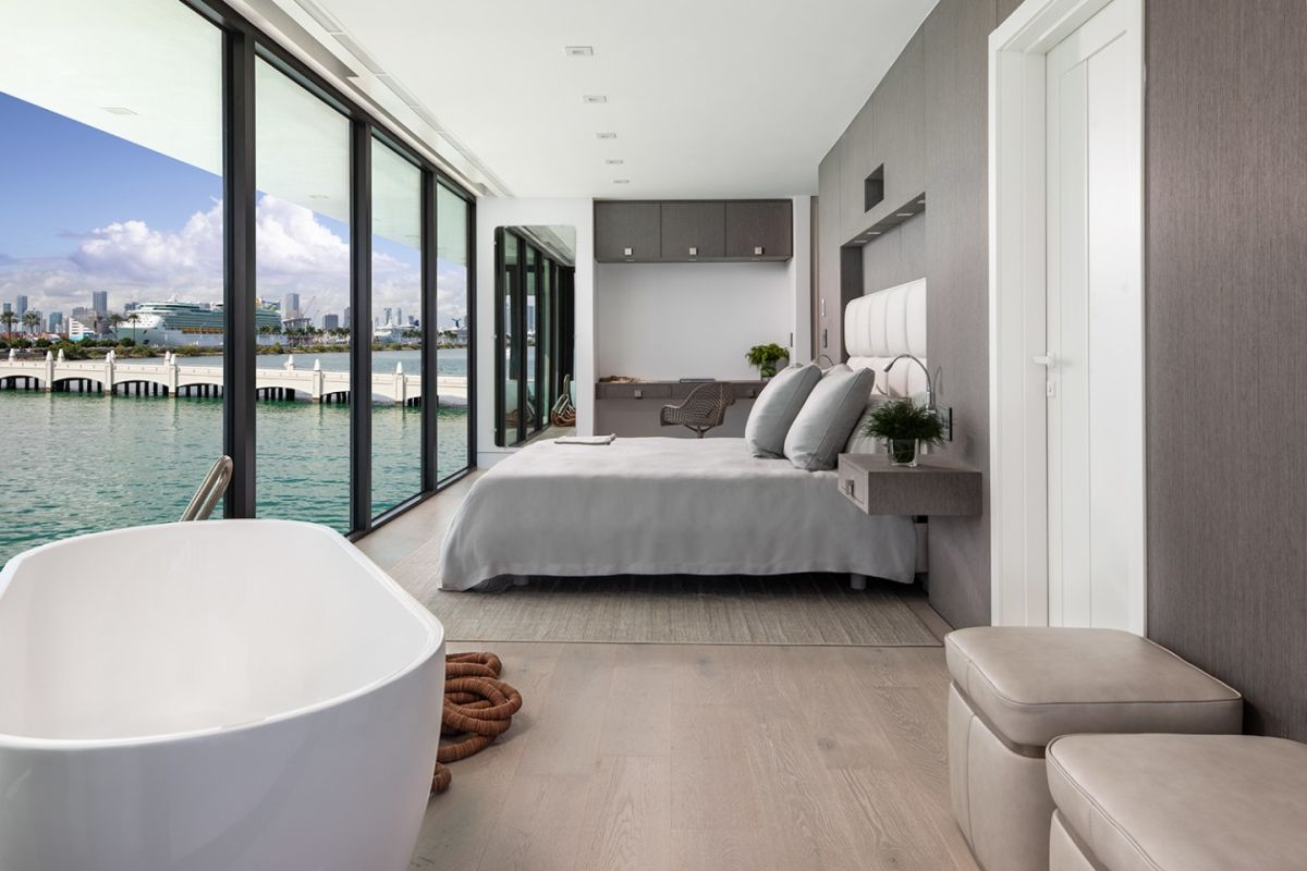 The upper level houses four bedrooms, each with its own en-suite bathroom