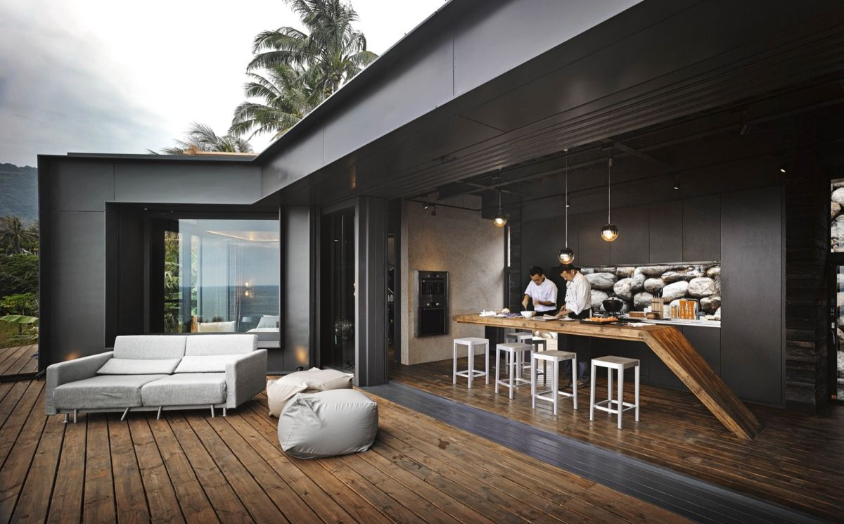 A'tolan house in Taiwan kitchen connected to terrace