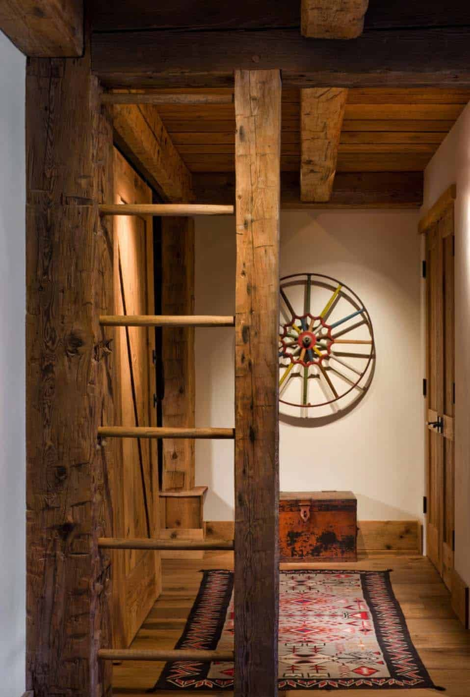 There's a very strong rustic vibe inside the house created by not just the materials and finishes used throughout but also the decor pieces