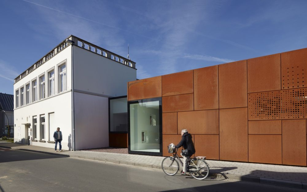 City Library Bruges with corten facade by Studio Farris Architects Design