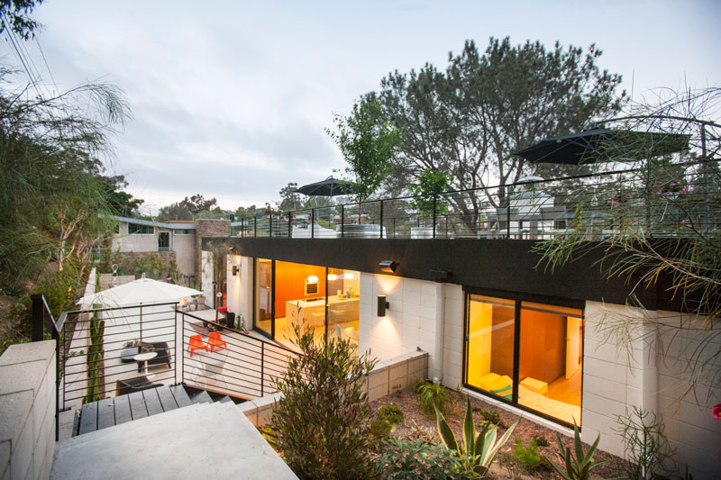 Clea House architecture and rooftop