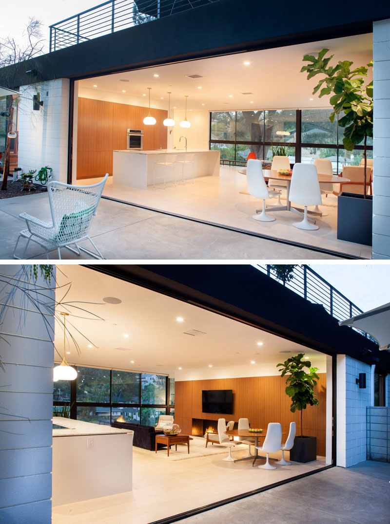 Clea House seamless indoor outdoor transition