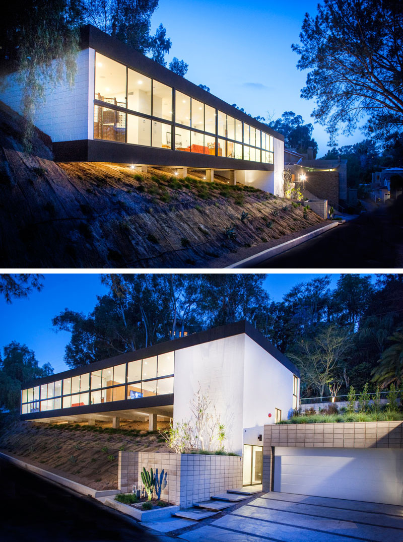 Clea House slope and cantilever