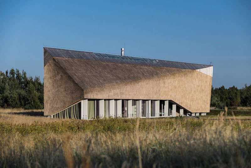 Dune House in Latvia big roof