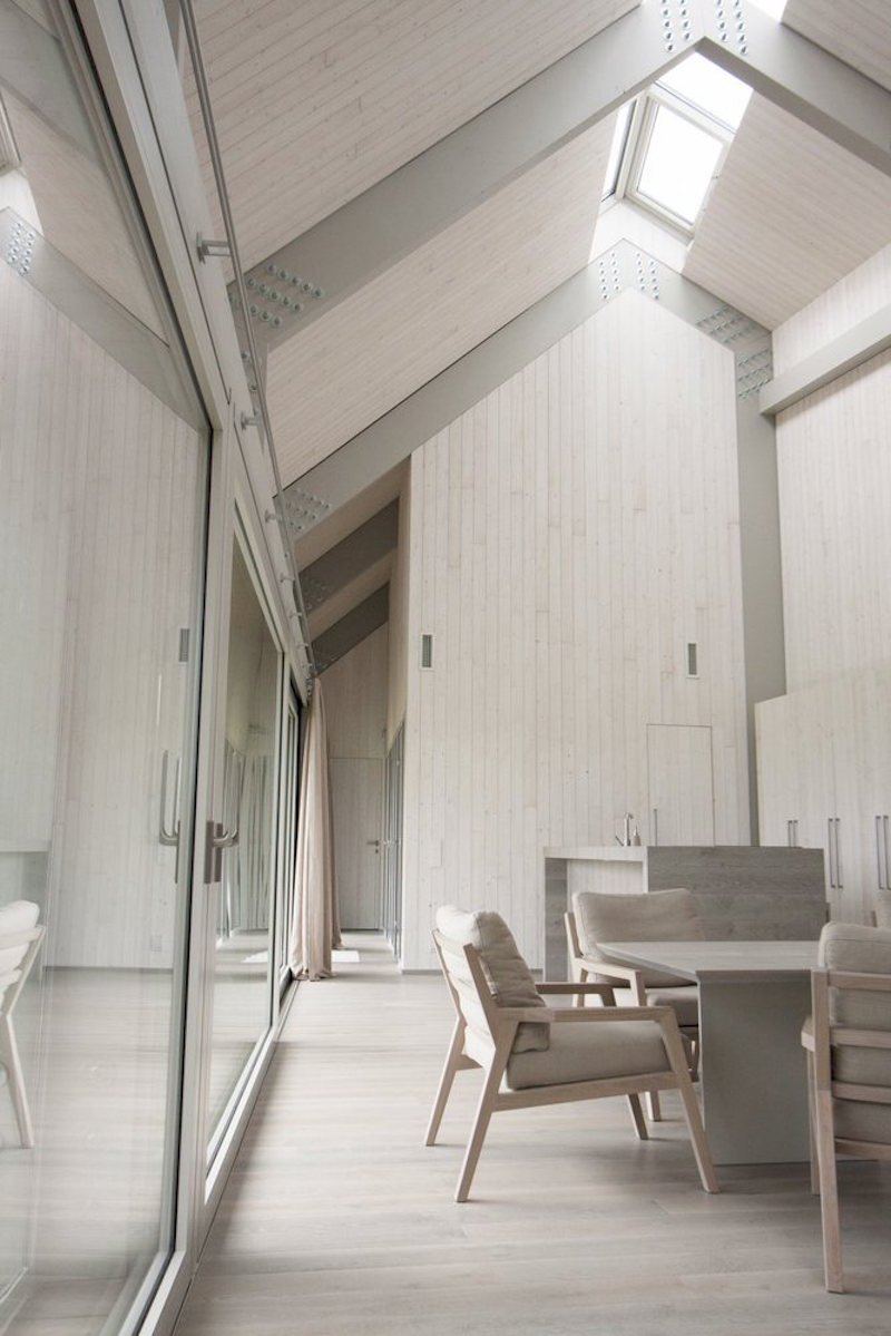 Dune House in Latvia dining area