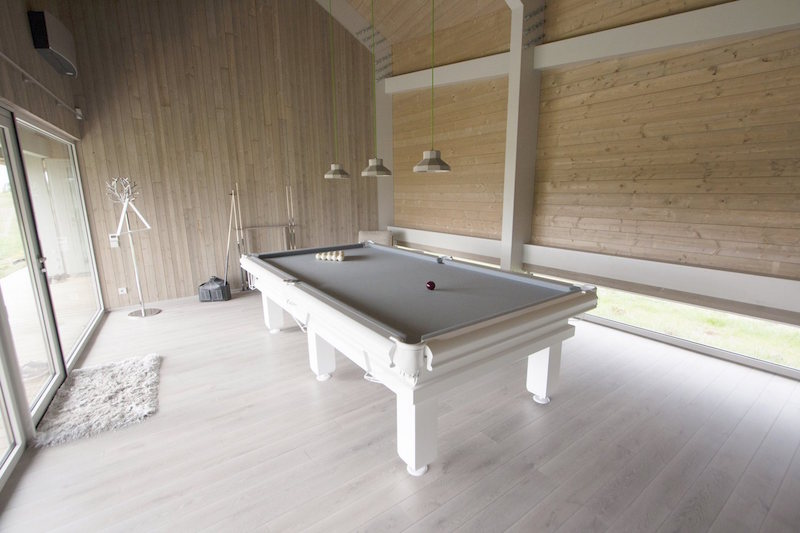 Dune House in Latvia pool table