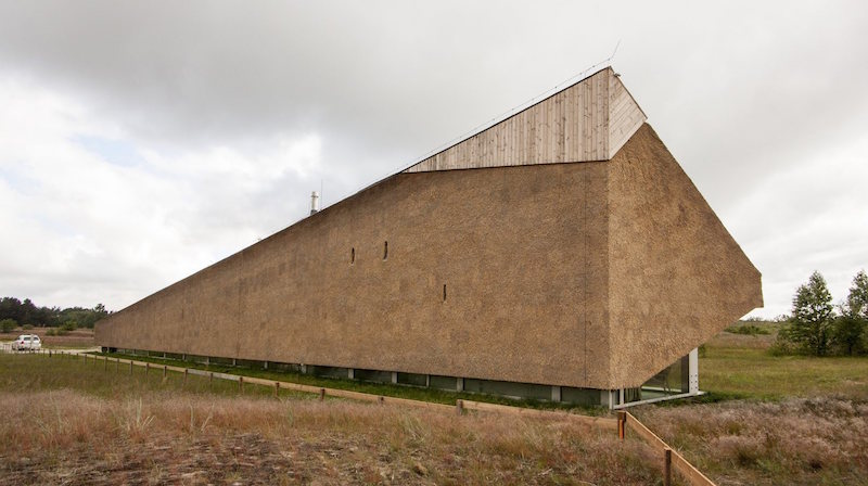 Dune House in Latvia roof top