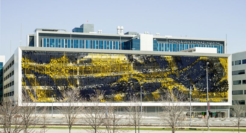 Dynamic facade Eskenazi Hospital in Indianapolis View