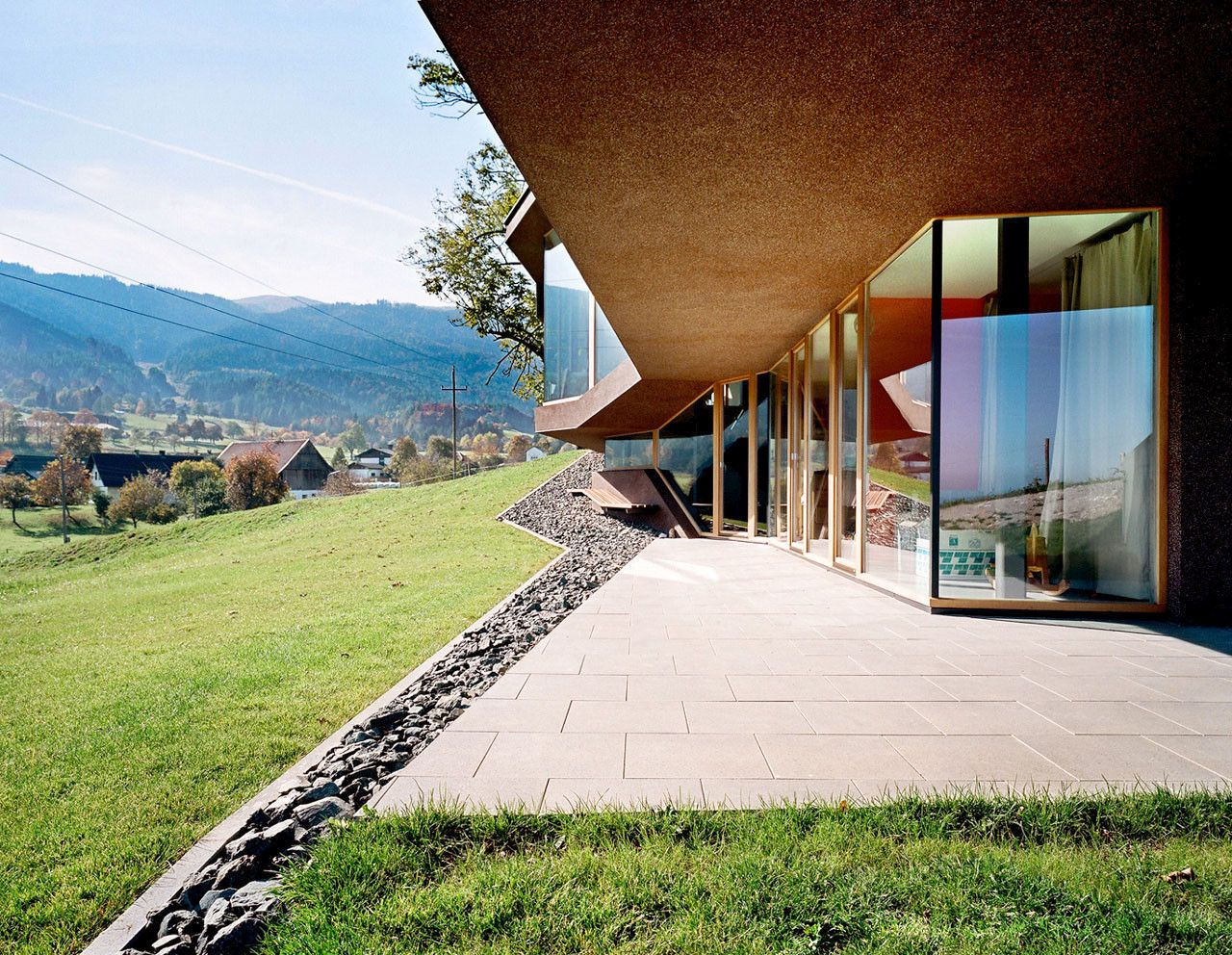 Embedded House with a beautiful Landscape Porch