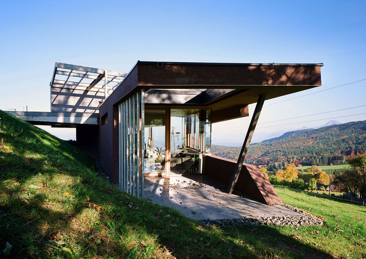 Embedded House with a beautiful Landscape