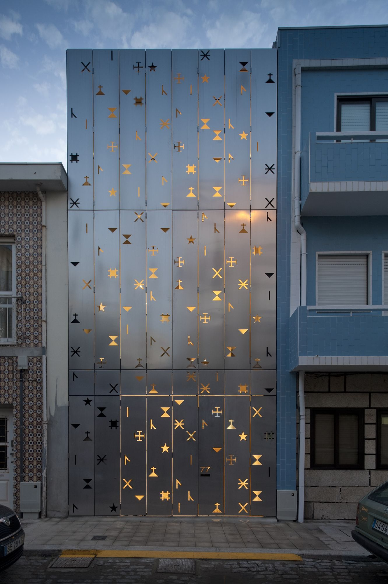 Eye-catching Perforated Facade
