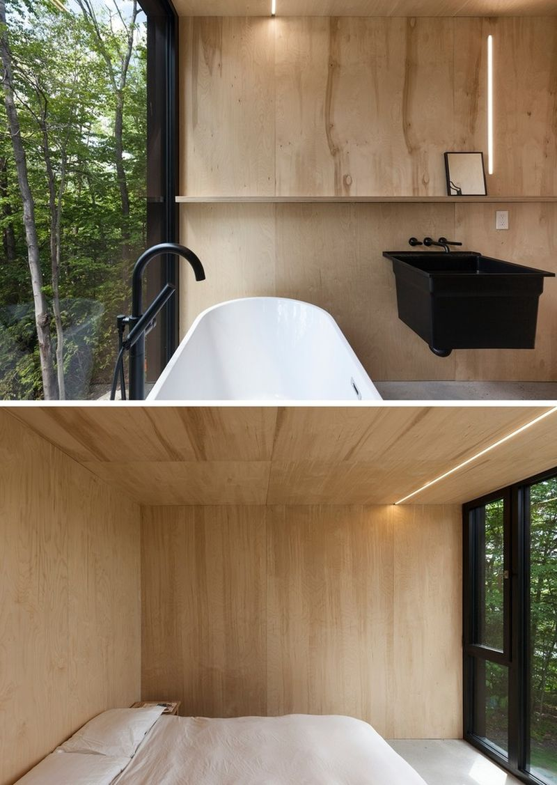FAHOUSE in Quebec master bedroom and tub