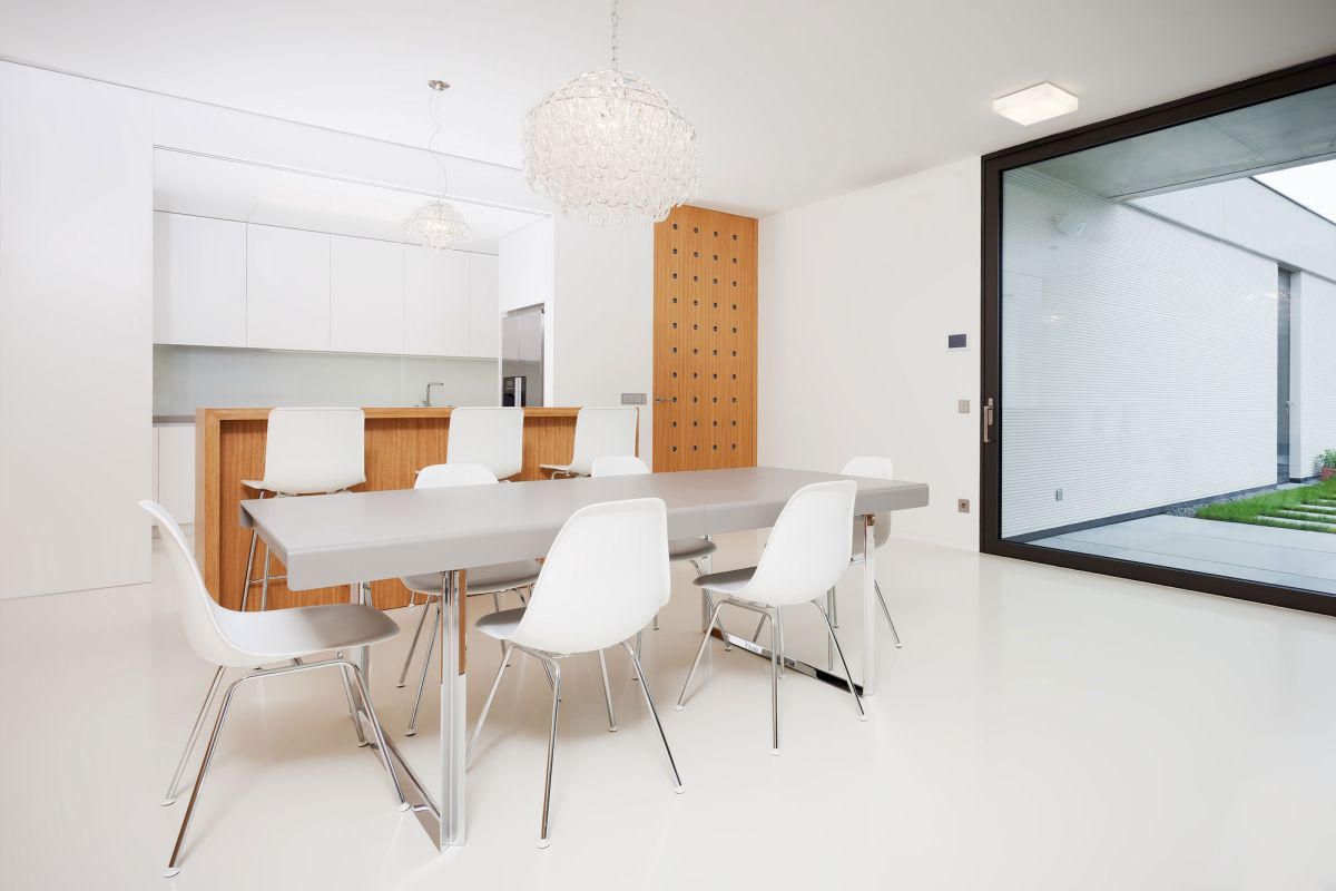 Family home in Slavonin kitchen and dining area