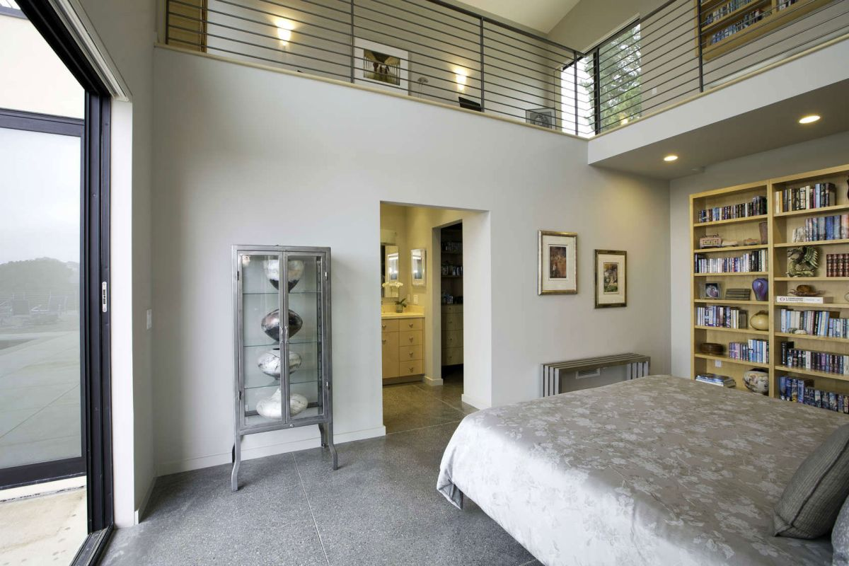 Fine Sips in Wine Country bookcase and bedroom decor