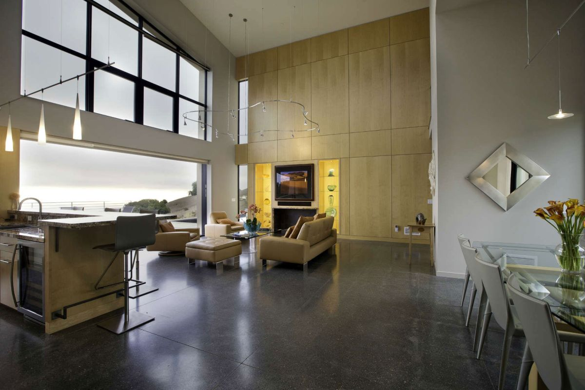 Fine Sips in Wine Country polished concrete floor