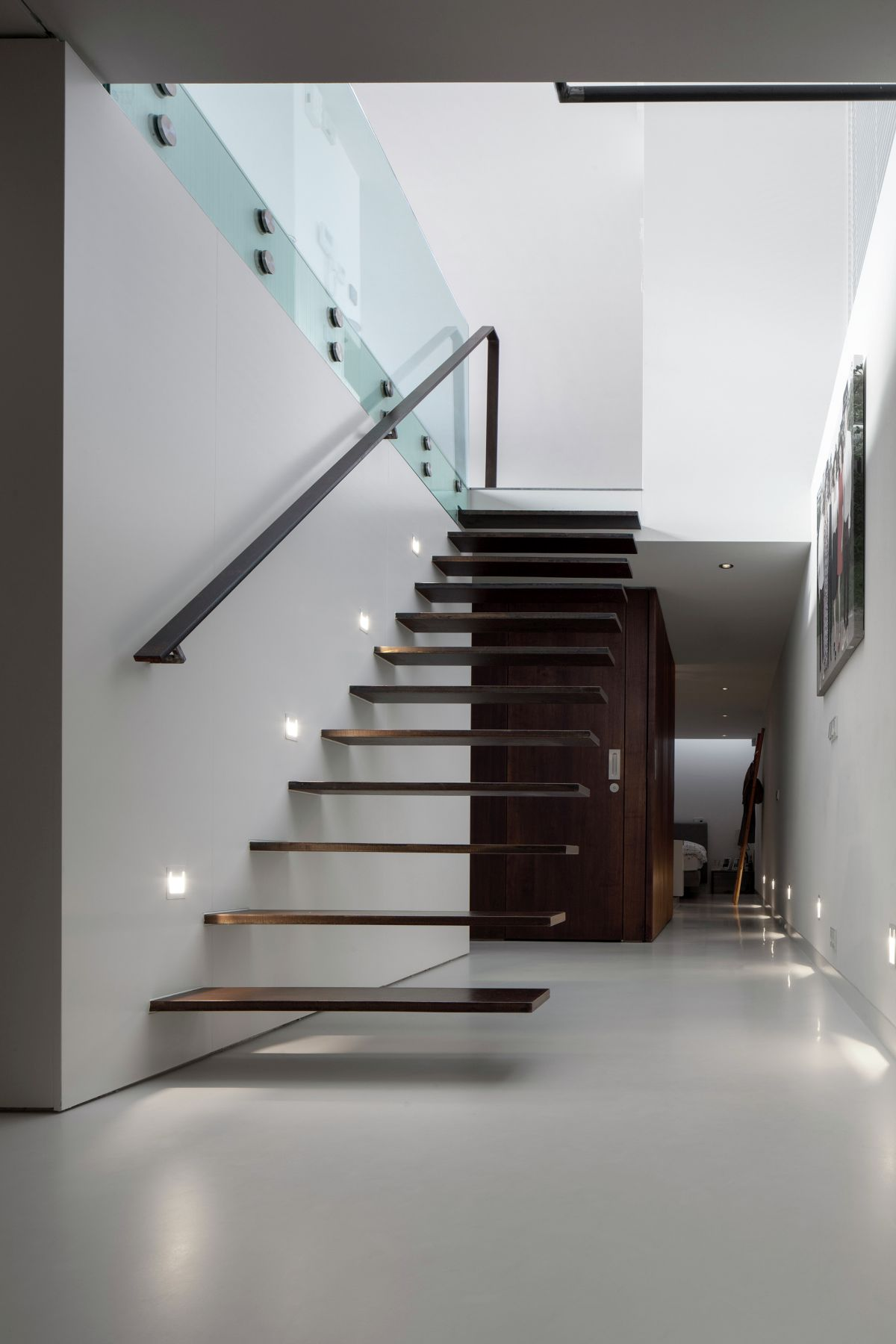 Floating stairs for a floating house in Amsterdam