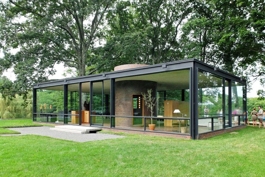 Glass and steel house