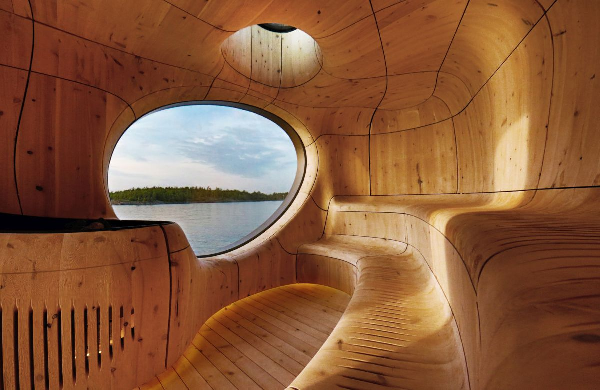 Grotto Sauna by Partisans Inside
