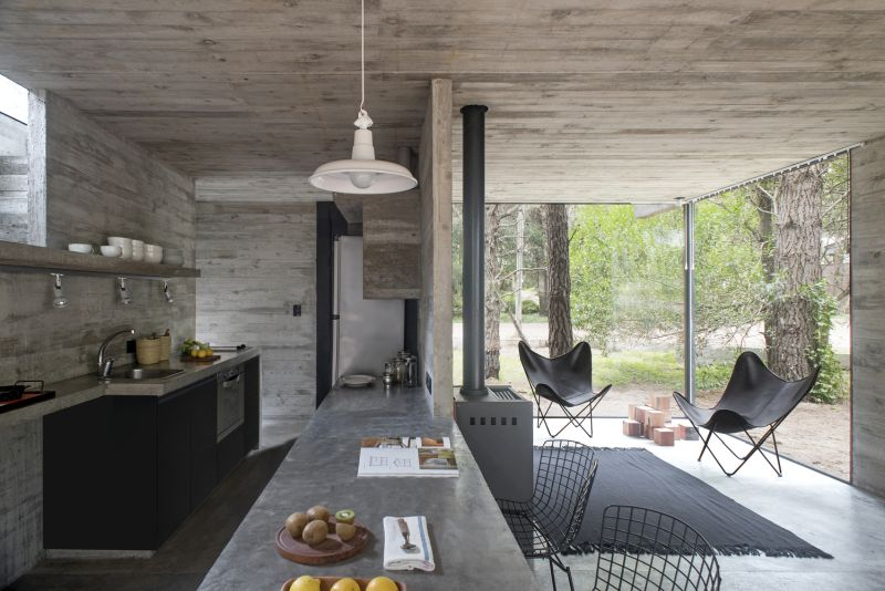 H3 House ground floor kitchen and living space
