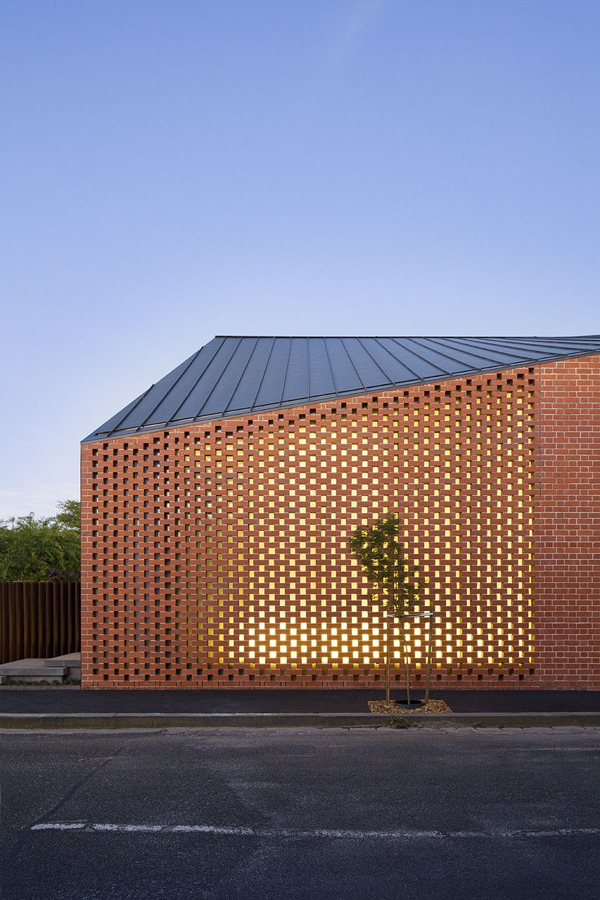 Harold Street Residence Perforated Facade Angle