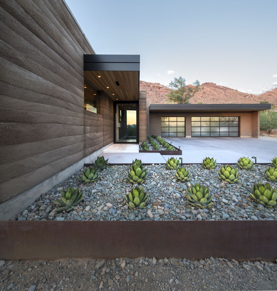 The garden is as simple and as sophisticated as the house itself