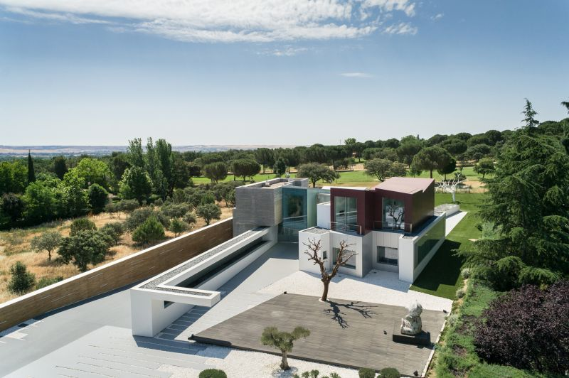 House H in Madrid architecture rendering