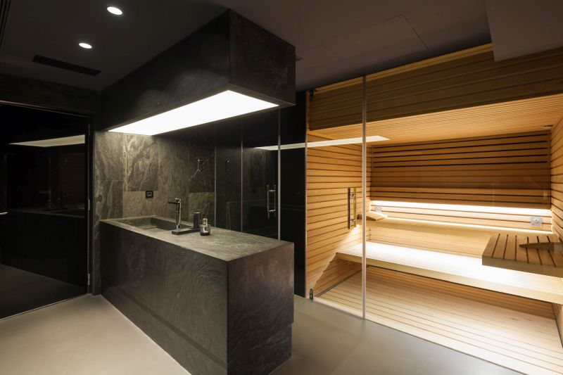 House H in Madrid bath and steam room