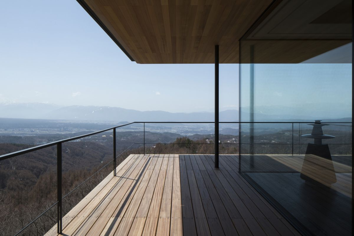 The exterior terraces are frames with steel and glass guardrails which offer security without obstructing the views