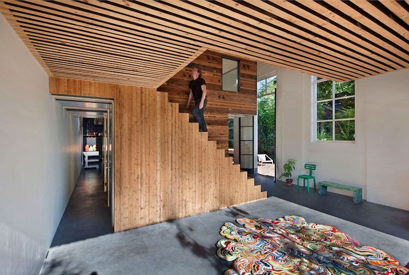 House of Rolf living space and stairs