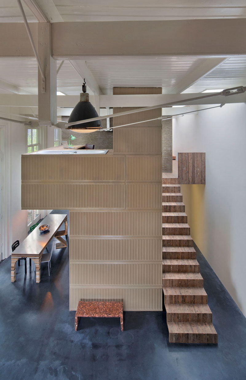House of Rolf radiator wall and staircase