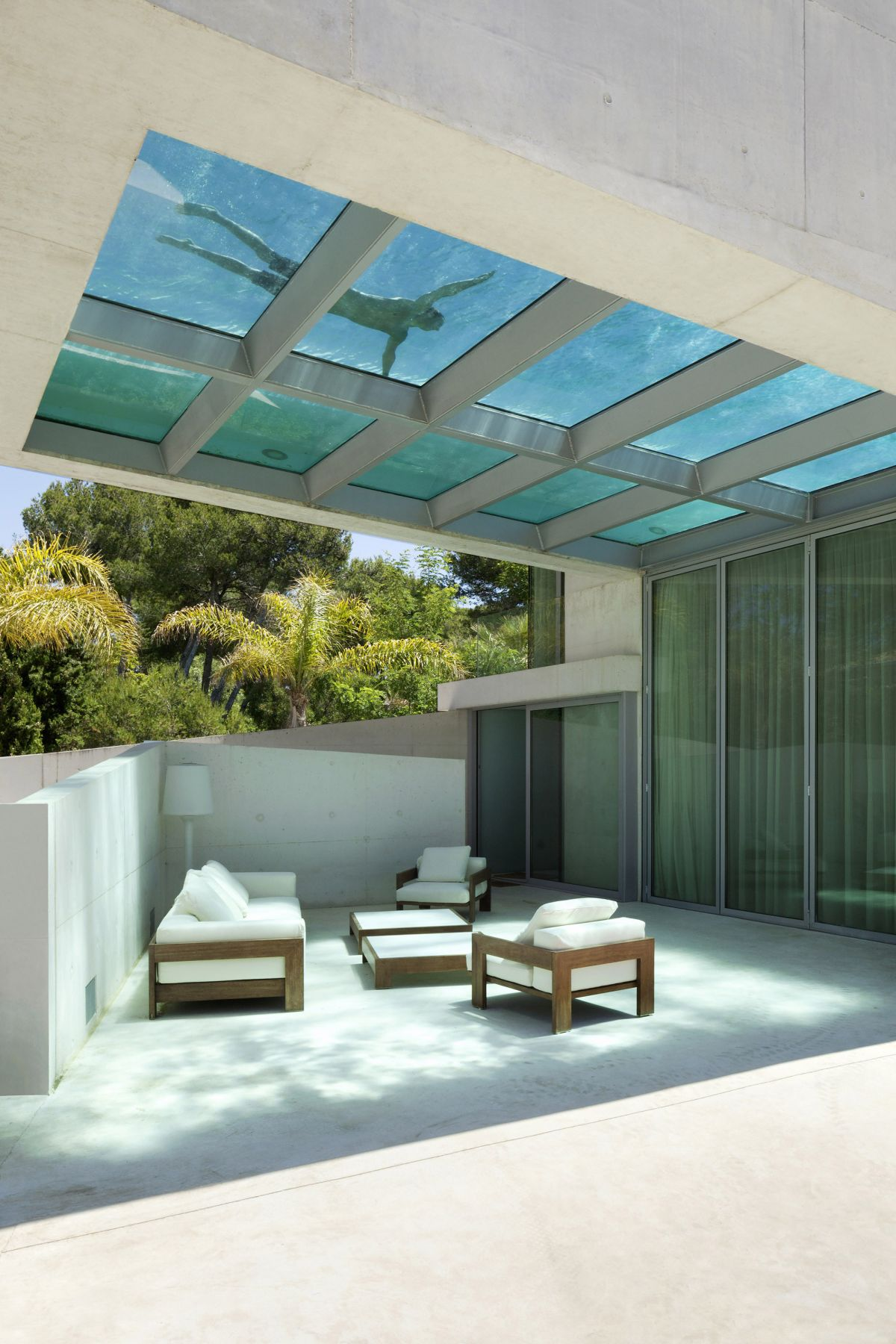 Jellyfish House Elevated Pool Design Wiel Arets Architects