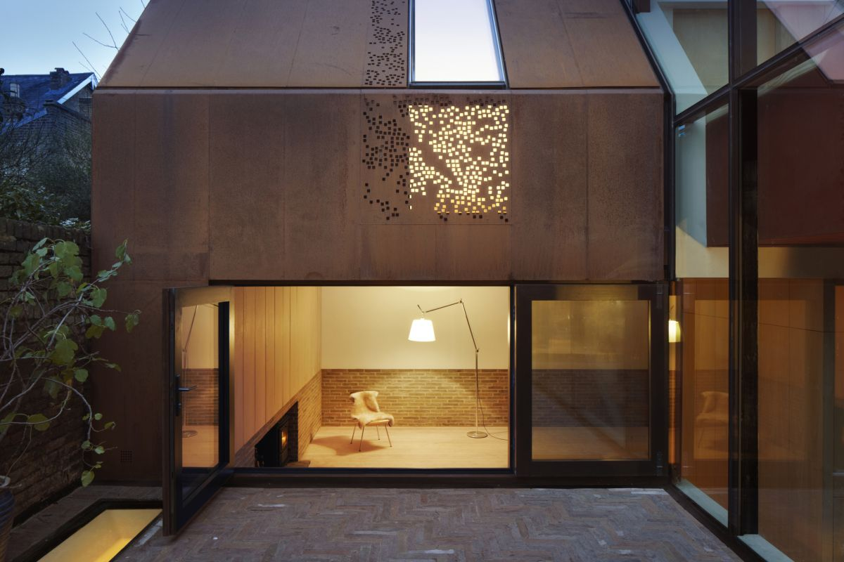 Kew House Perforated Roof