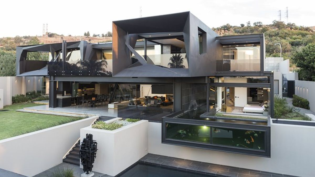 Kloof Road House project architecture overall view