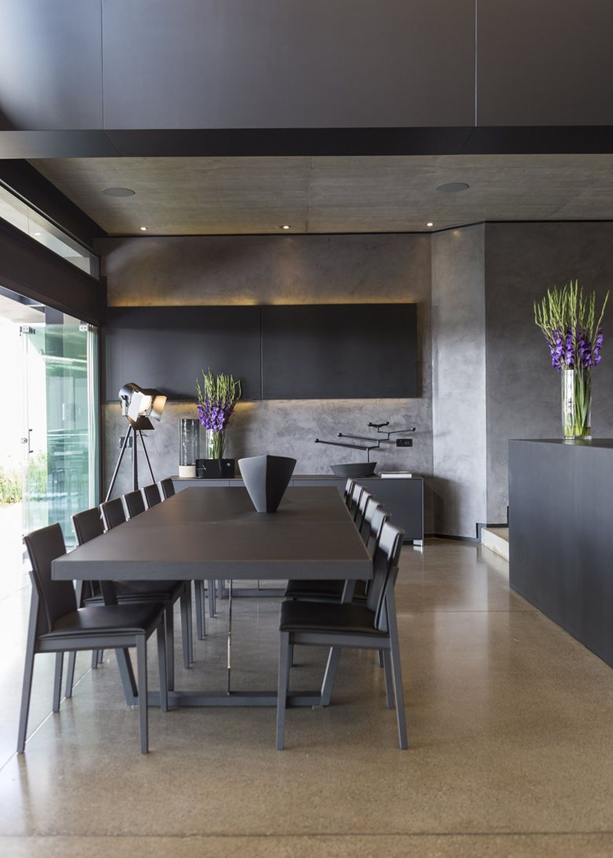 Kloof Road House project dining table and chairs