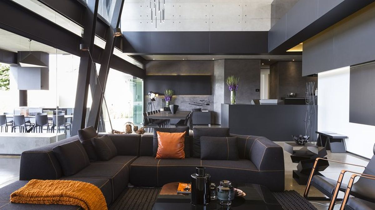 Kloof Road House project indoor living sectional