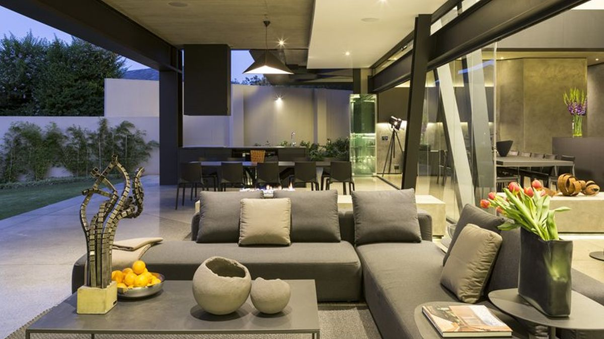 Kloof Road House project outdoor living space