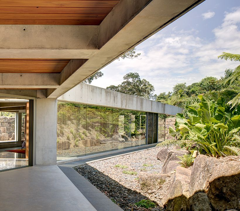 One section of the pavilion serves as a gathering space and is a very open and welcoming area