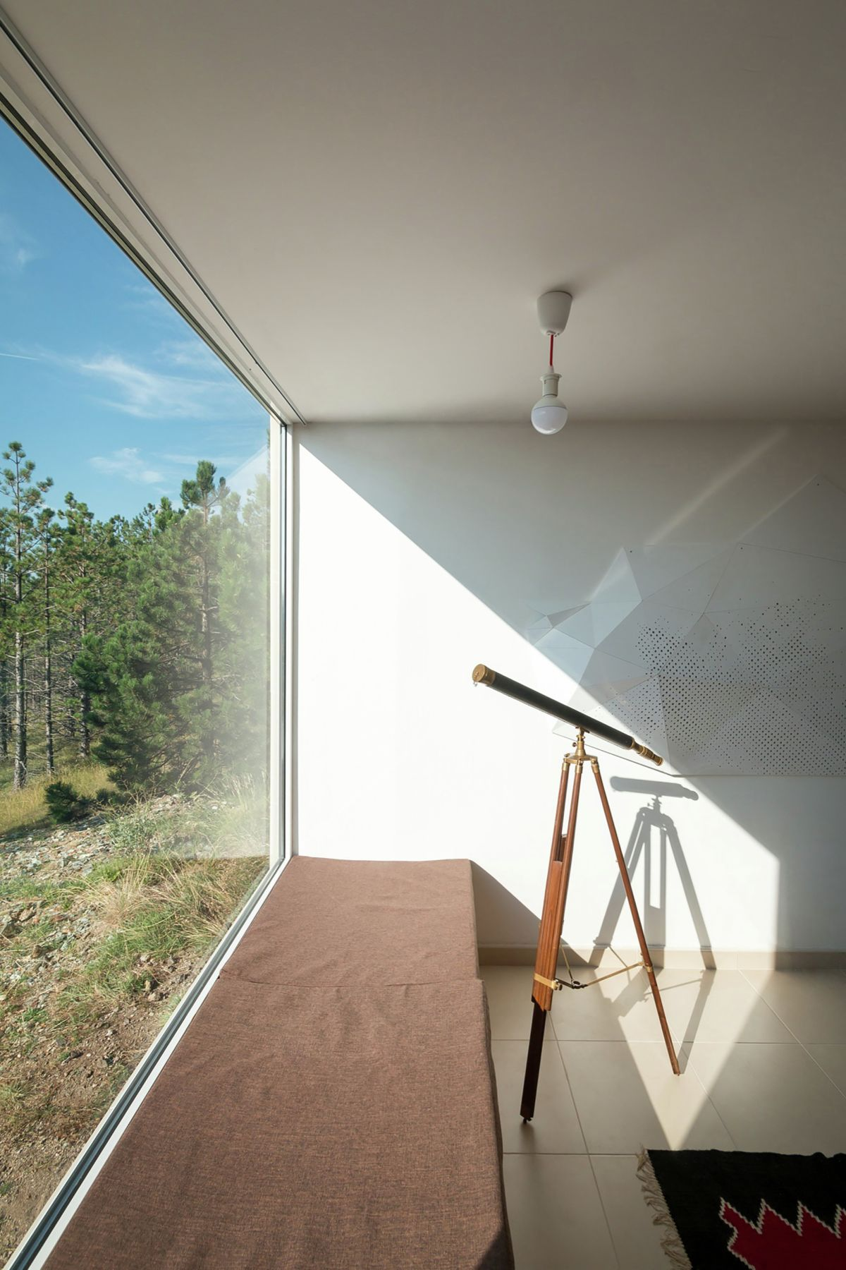 Large window with seating
