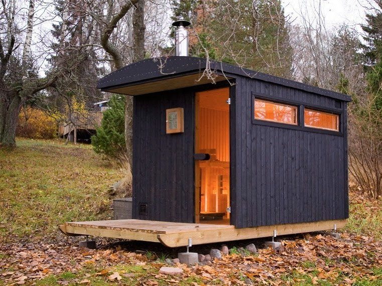 Little sauna design into the middle of forest