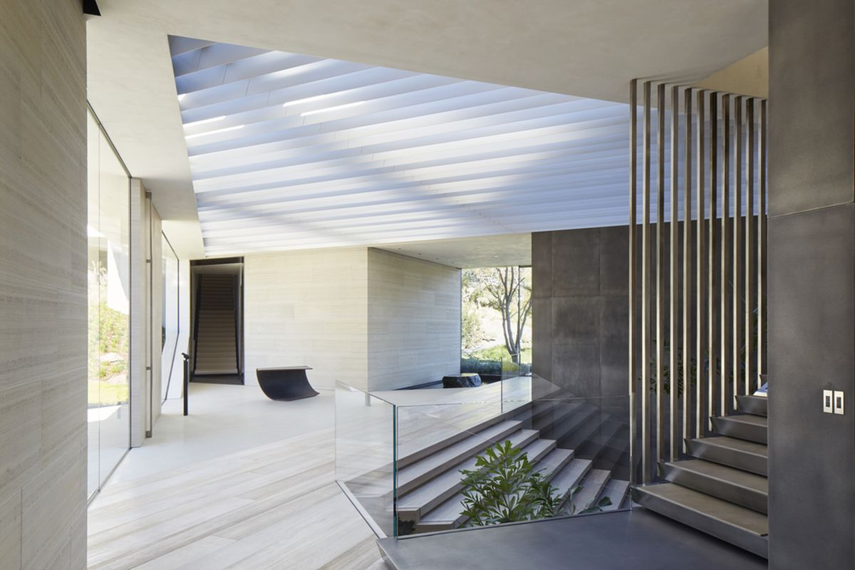 Michael Bay villa in Los Angeles staircase connection