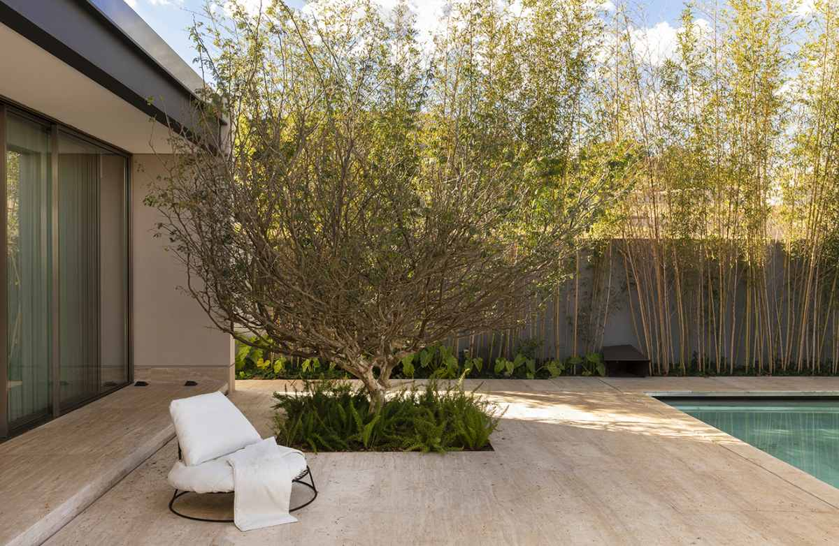 There's not really an abundance of greenery on the site but nature still plays an important role in the design