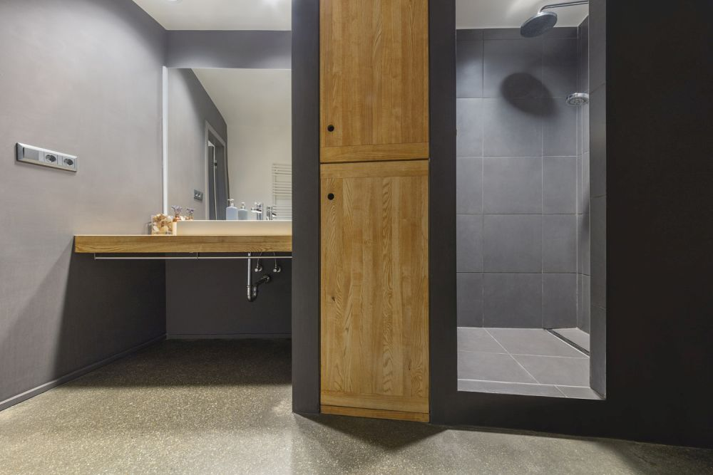 The materials used throughout this project are simple and carefully selected to match the desired look