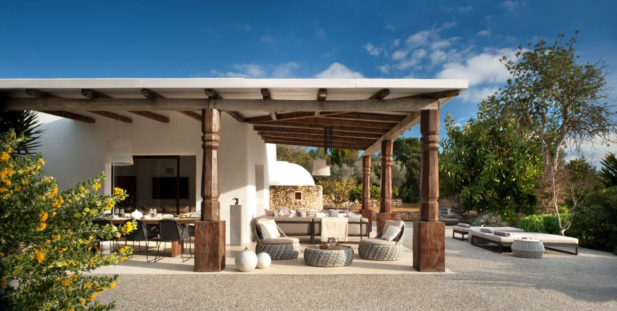 Modern Ibiza home by TG Studio - outdoor living space