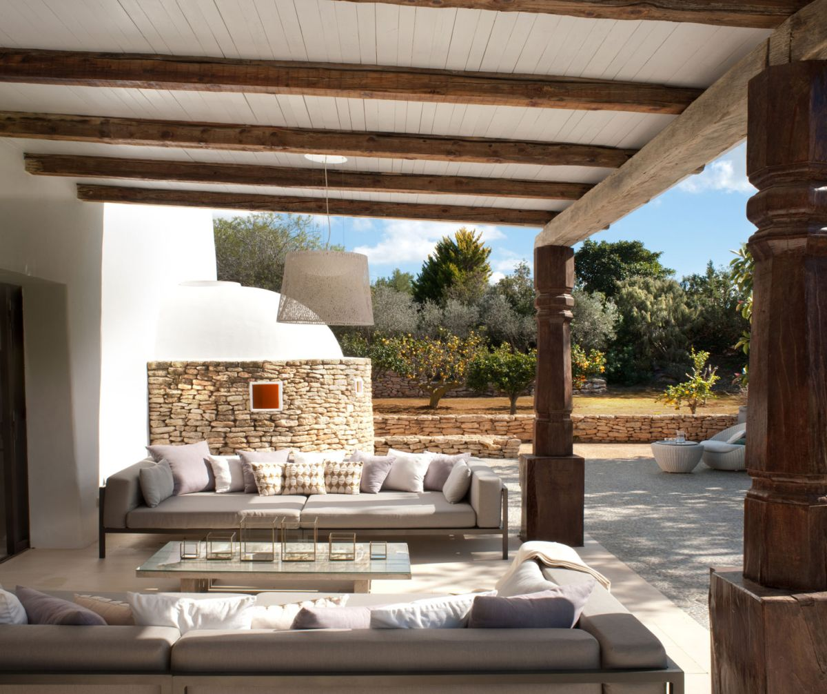 Modern Ibiza home by TG Studio - outdoor seating